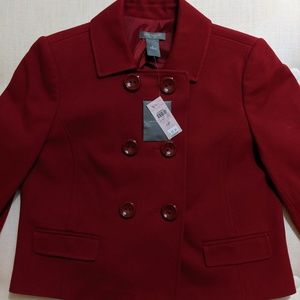 Ann Taylor Petite Double Breasted Blazer Size 6P